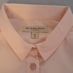 Burberry Tops - Burberry Peach XL LONG SLEEVE SHIRT with Scarf